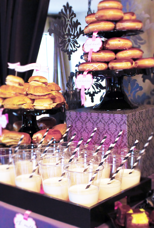 a glam rock n' roll bridal shower with an Italian soda bar on Showerbelle