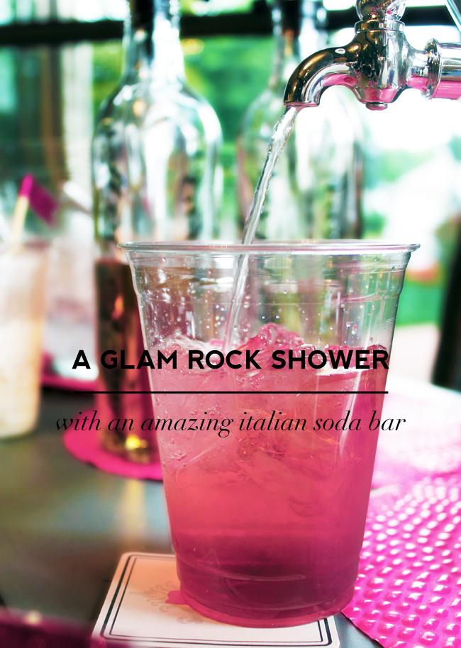 a glam rock n' roll bridal shower on Showerbelle