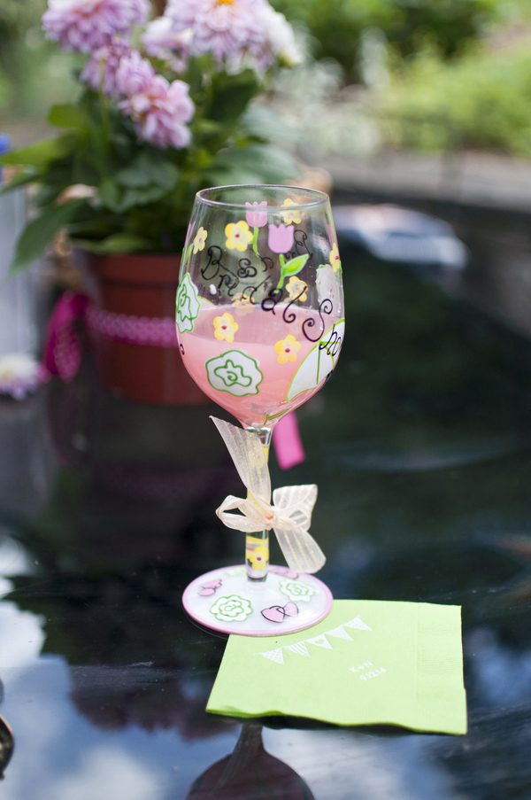 An adorable pink, green, yellow, and blue bridal shower brunch that you and your fellow bridesmaids can totally recreate