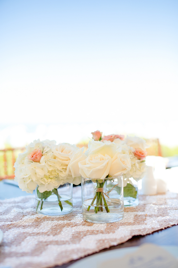 A gorgeous beach theme bridal shower with loads of good ideas on Showerbelle.