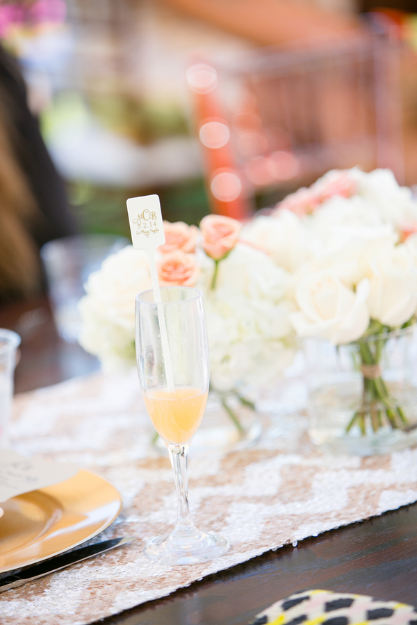 A gorgeous beach theme bridal shower brunch with loads of good ideas on Showerbelle.