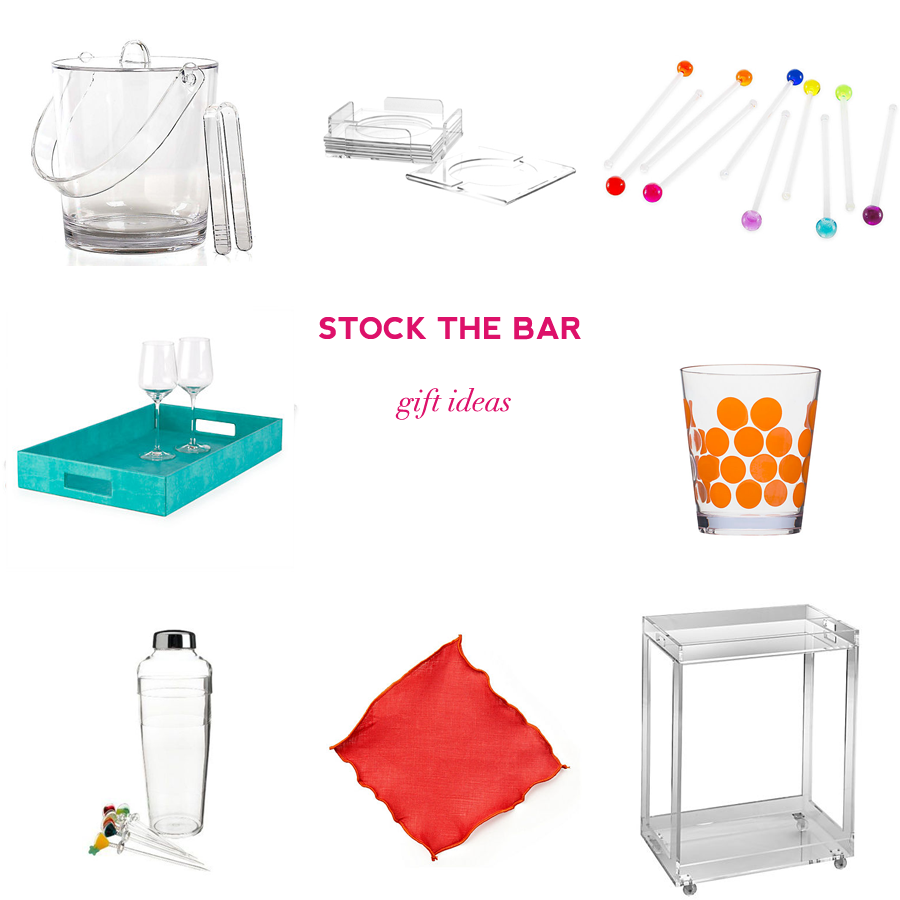 Retro inspired stock the bar bridal shower gift ideas on Showerbelle.