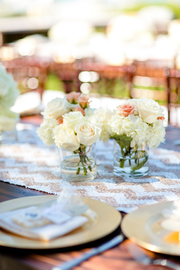 A gorgeous beach theme bridal shower full of great ideas on Showerbelle.
