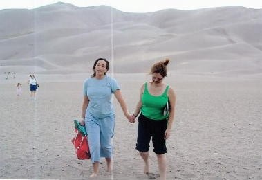 And finally my favorite picture of me and BFF of all time circa 2004. It's not super flattering, but it was taken towards the end of an 10 day trip to Colorado that nearly killed us multiple times. Apparently, when you're driving in the mountains you should shift down gears so your brakes don't catch on fire. This pic also seems to capture the essence of our friendship fairly well: near death experiences, poor fashion choices, defeat, rebirth, and solidarity.