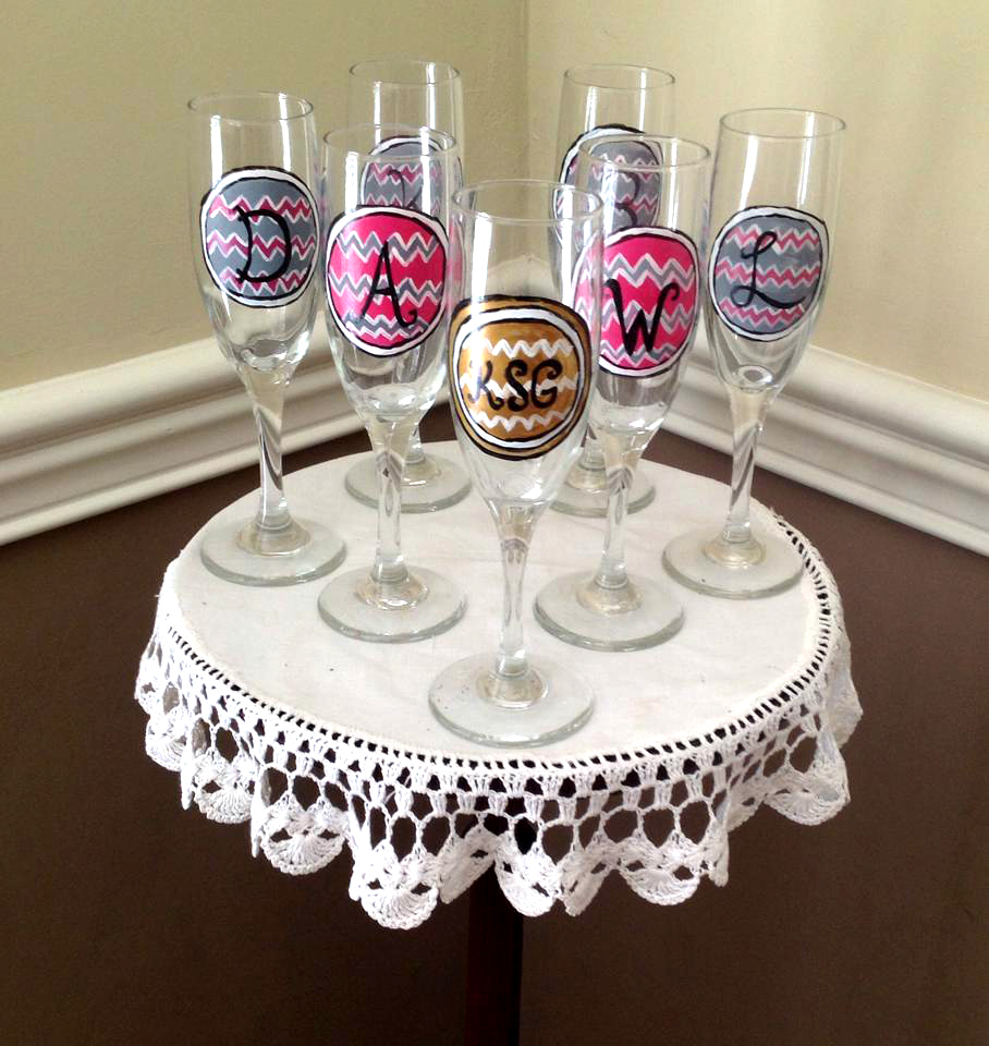everything you need to host a wine glass painting bridal shower wine glass design ideas - Wine Glass Design Ideas