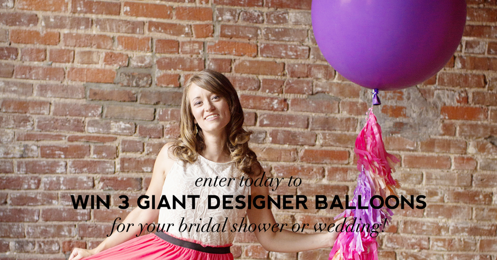Win 3 balloons like this worth $174 for your bridal shower or wedding on Showerbelle!