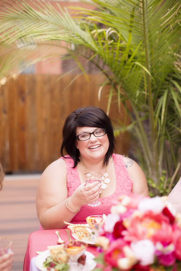 A pretty pink bridal shower brunch on Showerbelle.
