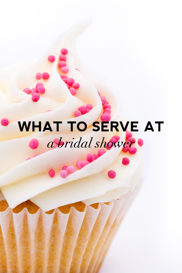 Click here to discover what to serve at a bridal shower.