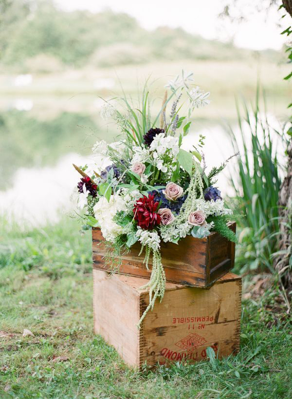 an inspiring vintage country bridal shower shoot