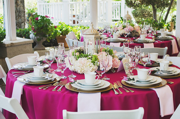 A perfectly pink traditional bridal shower with tons of gorgeous centerpiece and food ideas on Showerbelle.com.