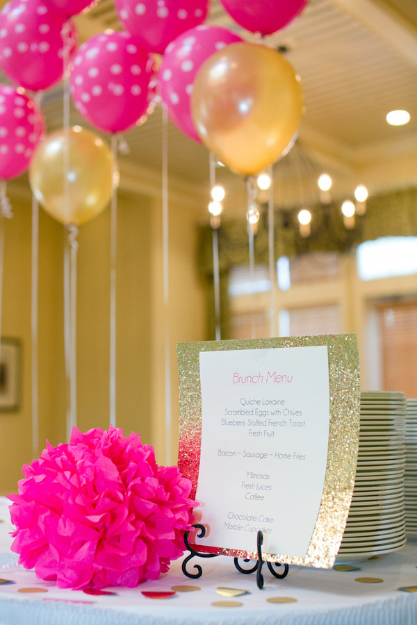 Check out this bold & preppy Kate Spade bridal shower brunch you can recreate at home. #kate #spade #bridal #shower #brunch #menu