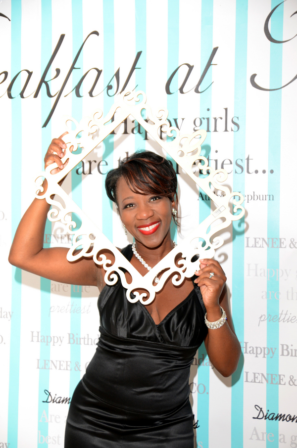 Event planner, Leneé Valentine at her Breakfast at Tiffany's birthday bash