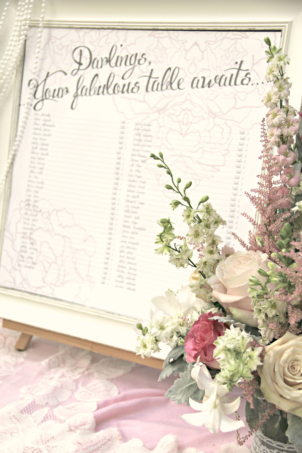 A delightfully pretty vintage bridal shower you have to see on Showerbelle.