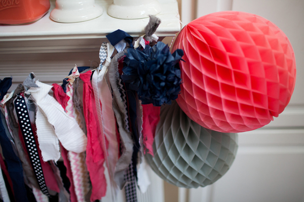 coral, pink, and navy baby shower on baby shower blog, Showerbelle.com #babyshower #pink #navy #coral