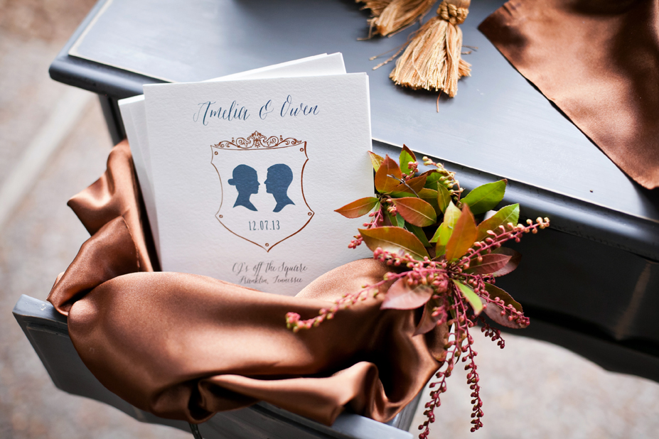 wedding programs silhouettes.jpg
