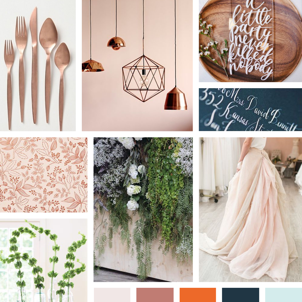 Eclectic Fairytale mood board for a romantic, yet balanced wedding on Event 29.