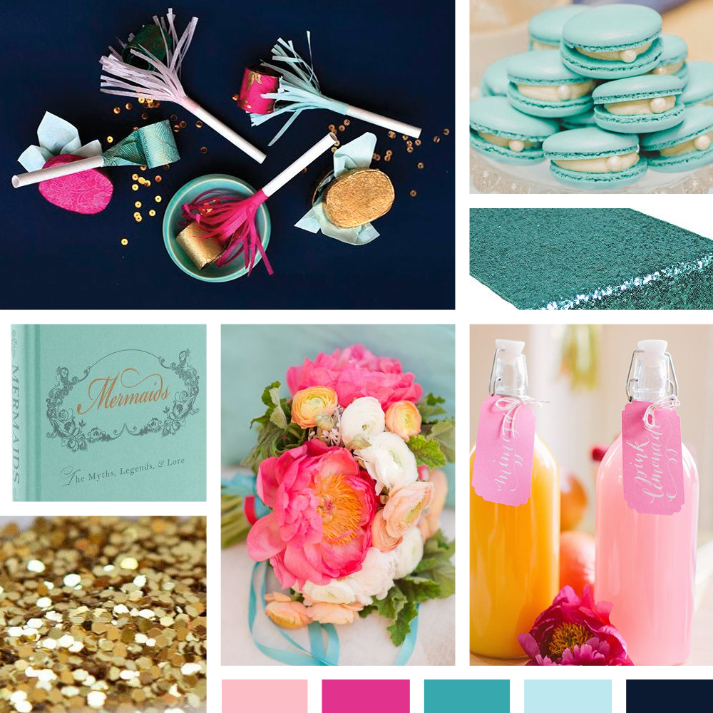 ... Inspiration, Inspiration Board, Metallics, Nautical Bridal Shower, Navy  Blue, Pink, Q & A, Summer, Teal, Tropical Bridal Showers, Wedding Color  Palettes ...
