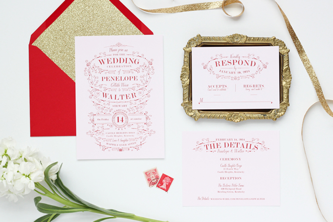 Penelope Wedding Suite by Megan Wright Design Co.