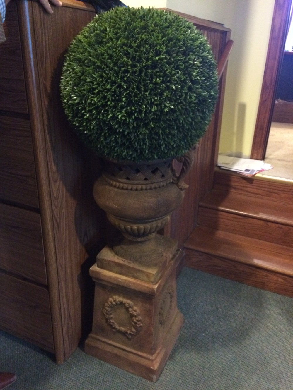 Boxwood Pomander and Urn $75