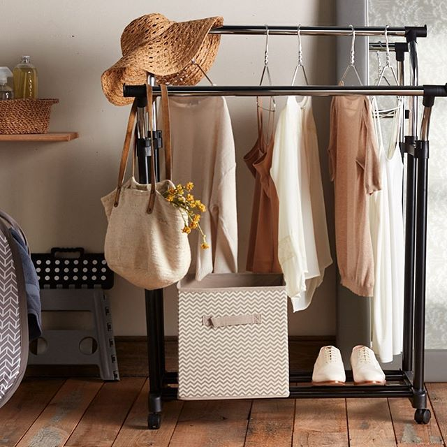 Here's a pro styling tip for you: if you want your wardrobe to look this fresh and organized, get rid of all your clothes, buy five off-white and nude-colored shirts in size 00, put them on the least practical hangers you can find, and hang a bag of dead flowers next to them. #capsulewardrobe #yourewelcome #themoreyouknow #sorryaboutthechevrons #photostyling #photostylist #photostylists #productstylist #productstylists #productstyling #louisvillepropstylist #hardhome #commercialphotography #stilllife #photostaging #interiorstyling #pretty