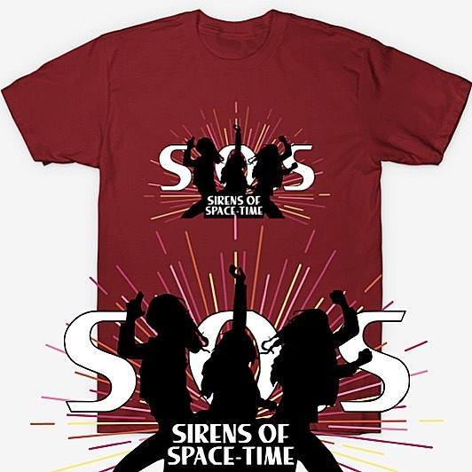 Make way for SOS! The Sirens Of Space-Time are here! Available now in my TeePublic shop! TeePublic.com/user/AtomicOctopusDesigns . . . #LegendsOfTomorrow #AvaSharpe #SaraLance #Avalance #DCTV #CharliesAngels #TShirtDesign