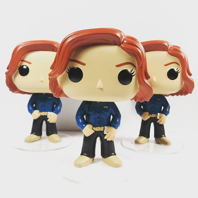 Sheriff Haught reporting for duty! These will be available at #ClexaCon in April! . . . #NicoleHaught #WynonnaEarp #WayHaught #CustomFunko #FunkoPop