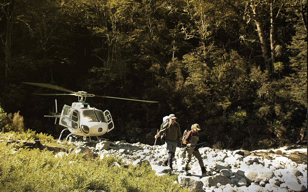 Heli fishing near Taupo with Tongariro Lodge