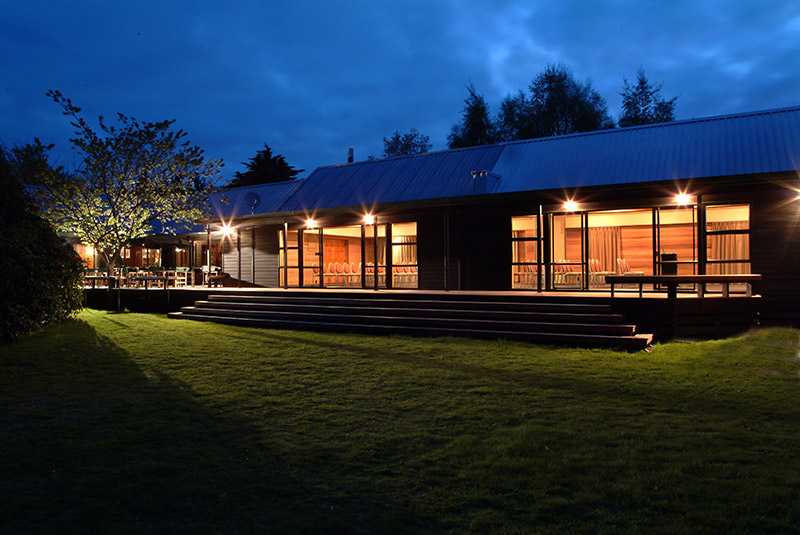 Evening bliss at Tongariro Lodge near Turangi