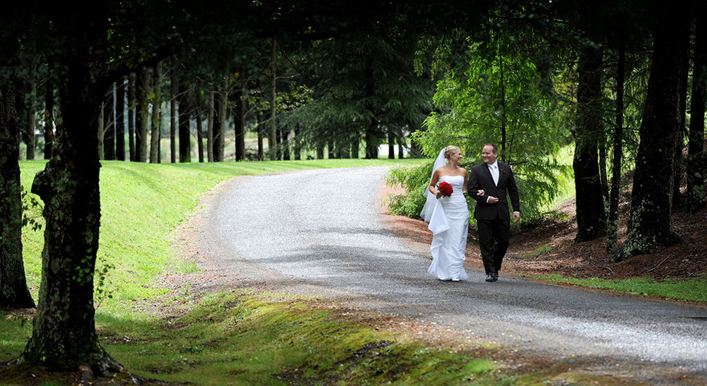 A unique outdoor wedding venue at Tongariro Lodge near Taupo