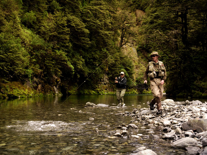 Fly fishing near Taupo with Tongariro Lodge