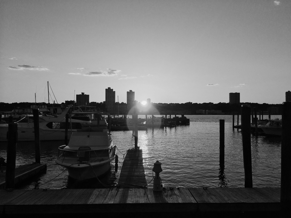 Pier at Boat Basin Cafe on the upper west side.