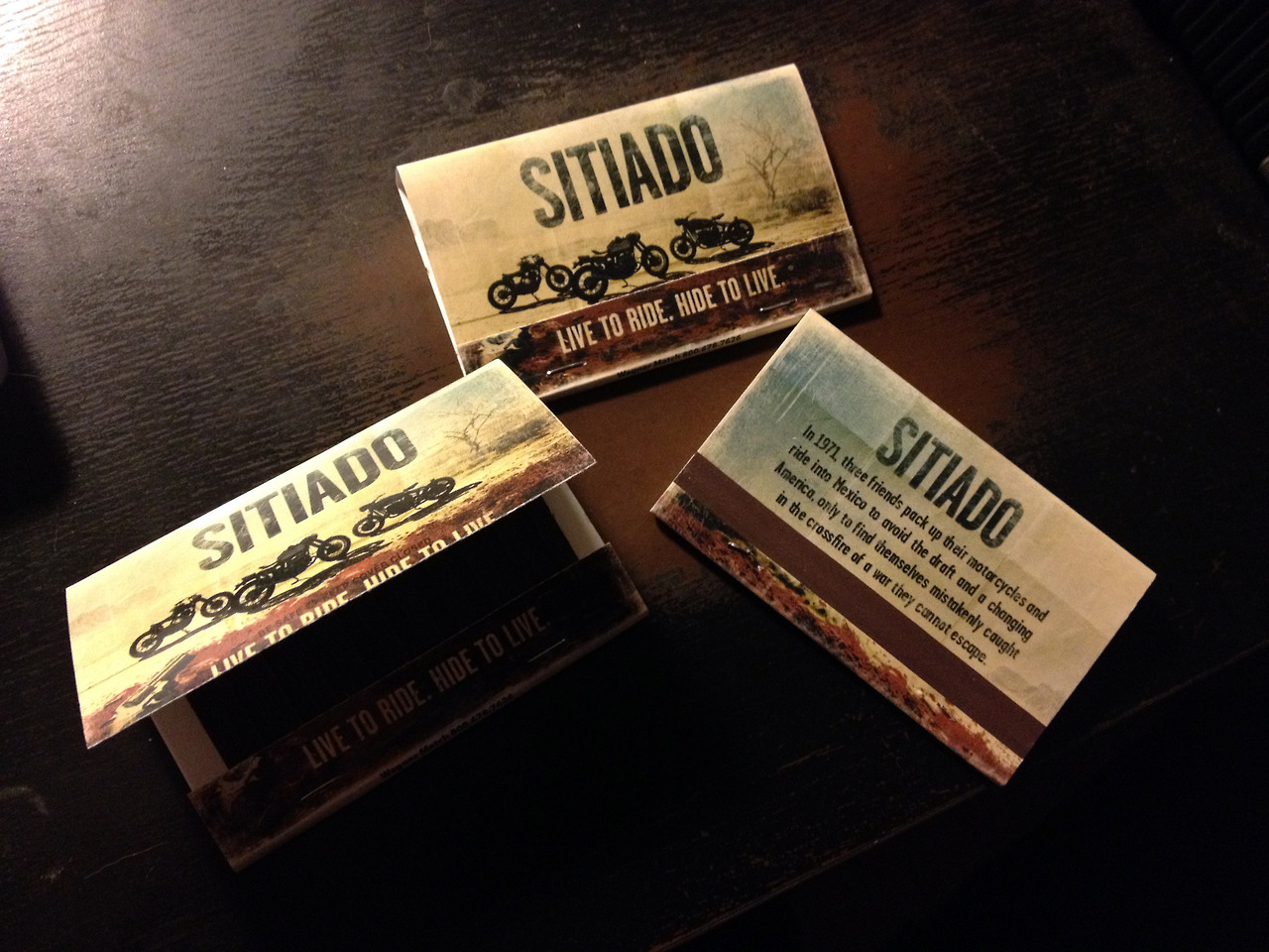 Check out the new matchbook/business cards for my new movie that are starting to pop up in bars all over Los Angeles! www.sitiadomovie.com