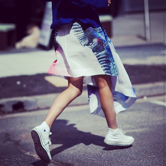 lindy kim sneakers street style fashion week