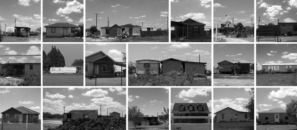 Figure 1:  Street survey of housing in three colonias north of Weslaco, Texas (Rivera, 2015).
