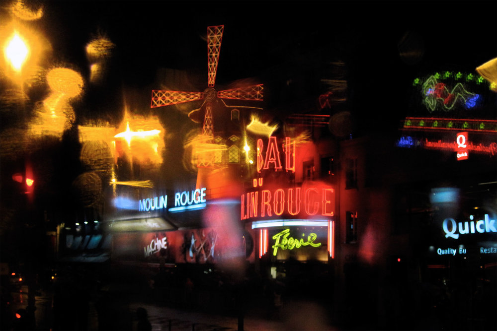Outside of the Moulin Rouge. Read  my Yelp review  on the show.