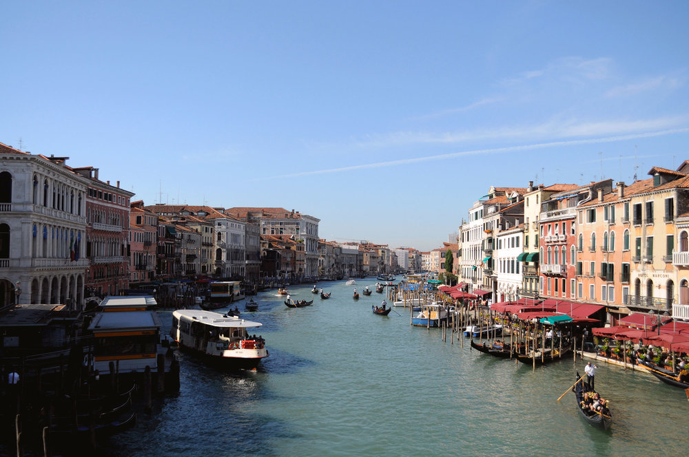 The Grand Canal, taken from the Rialto Bridge