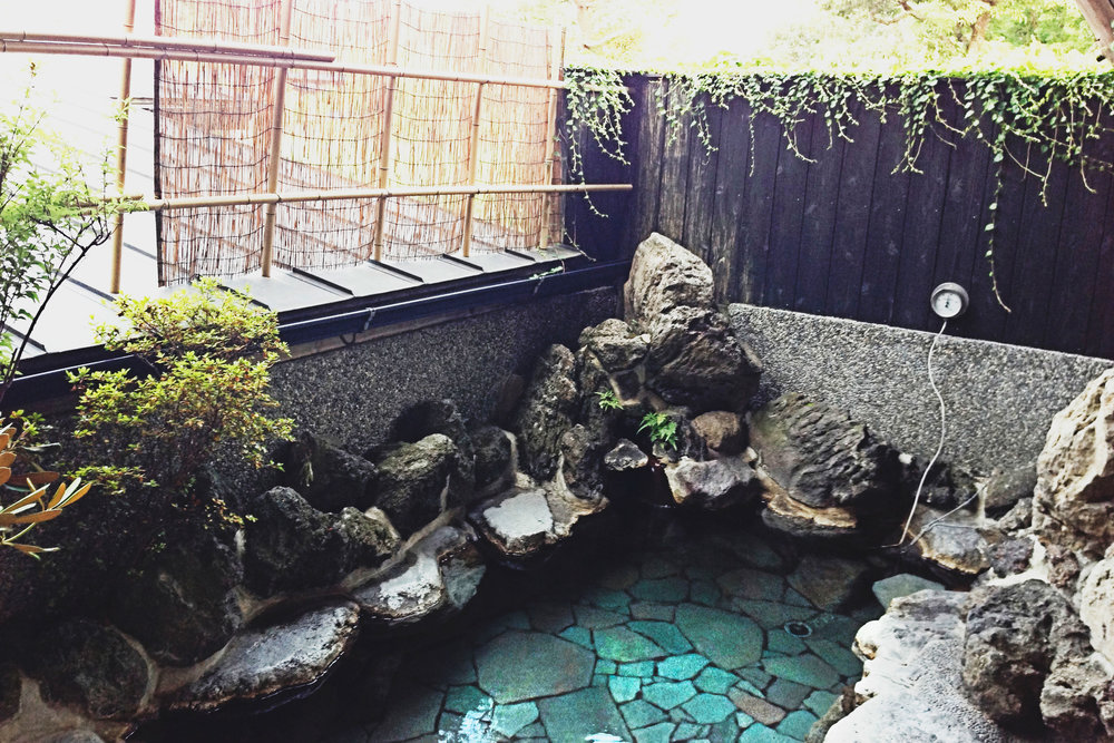 One of the private onsens at Yadoya for guests.