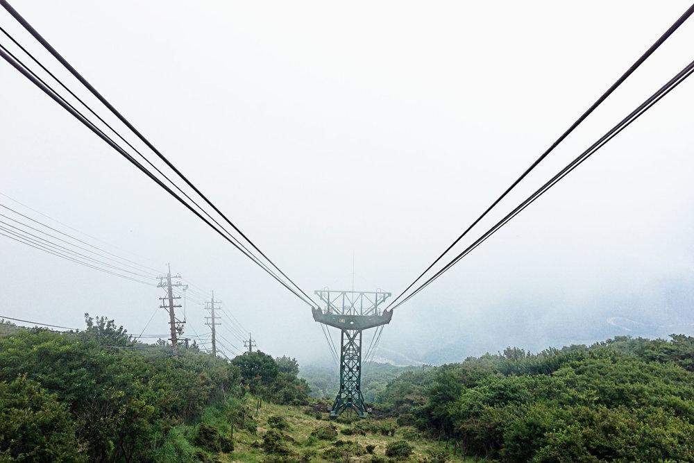 Beppu Ropeway up to Mount Tsurumi