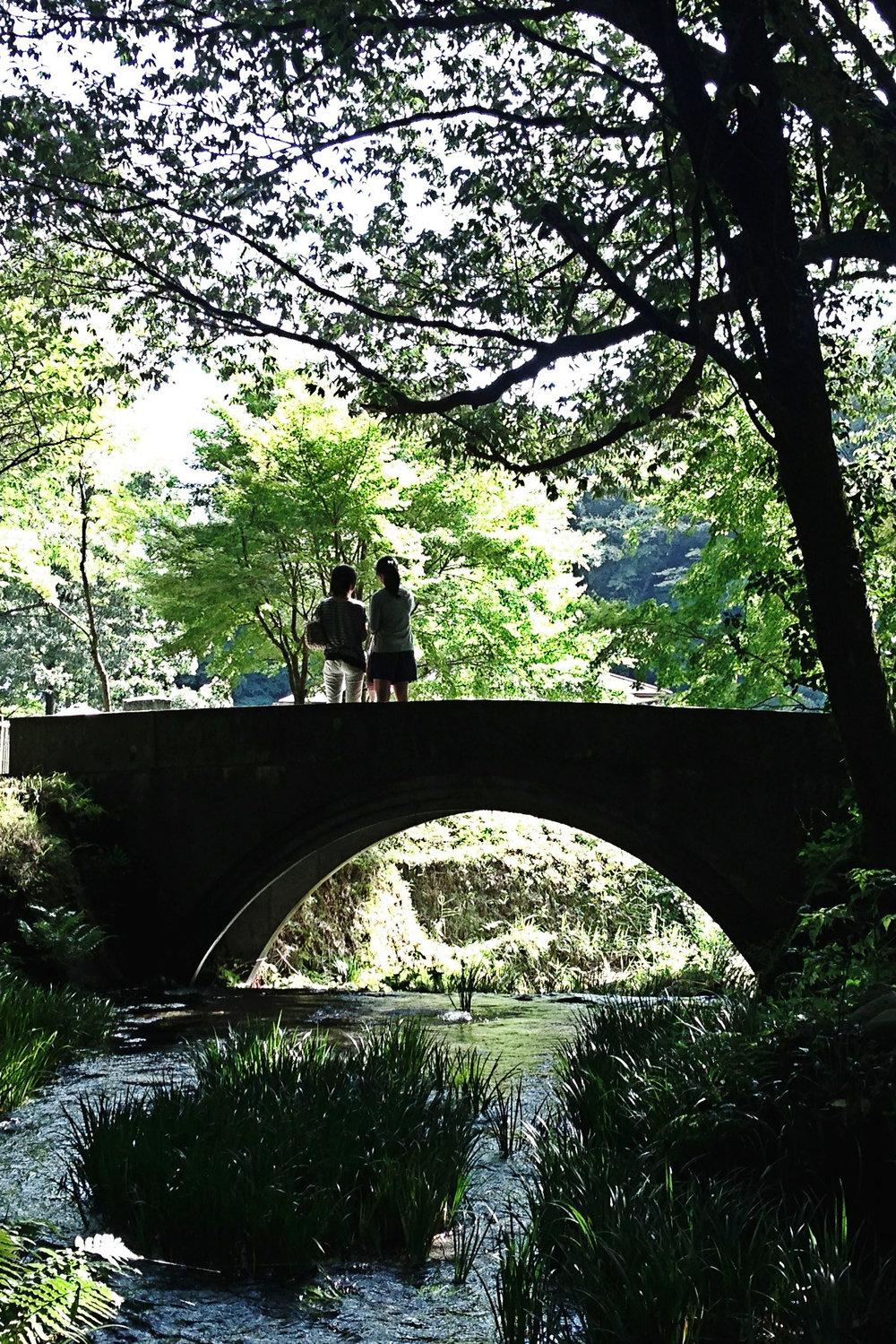 A bridge over Ikeyama Suigen spring