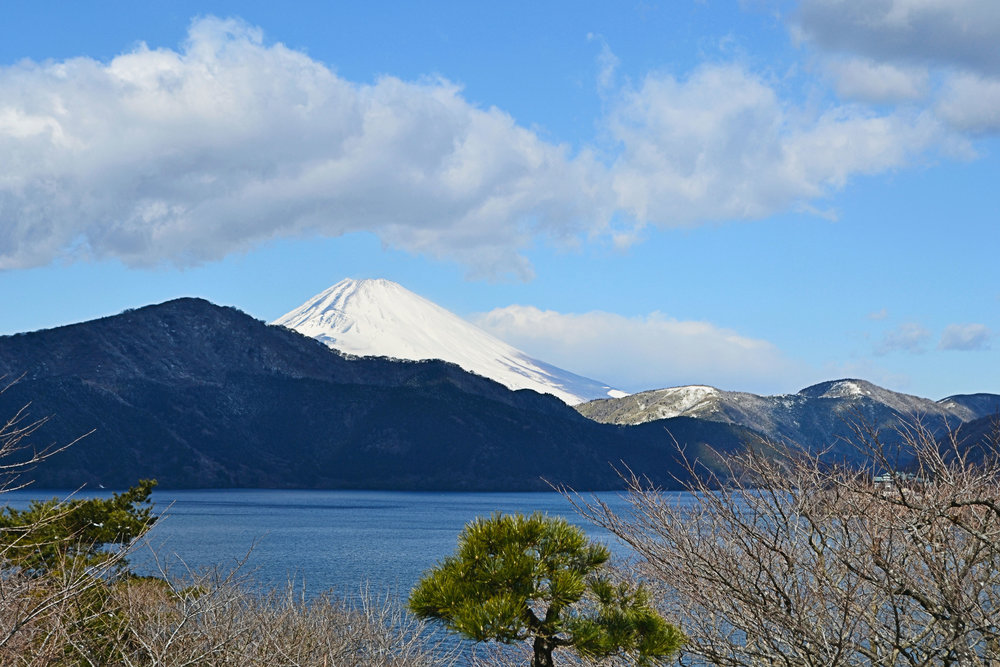 Mt Fuji, seen from Motohakone.