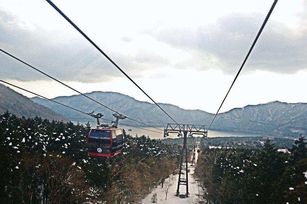 The Hakone Ropeway gondola from Hakone
