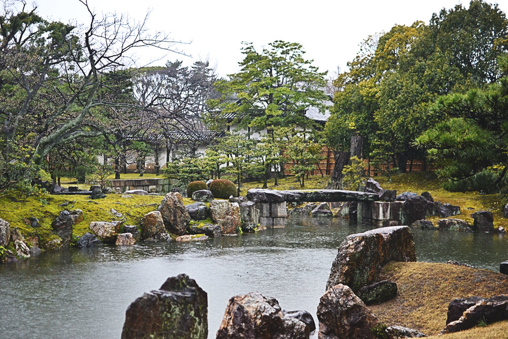 Gardens at Nijo Castle in Kyoto