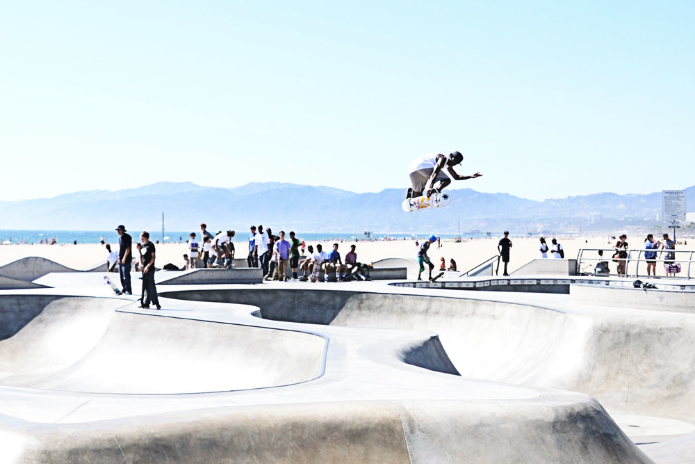 Skateboarders at Venice