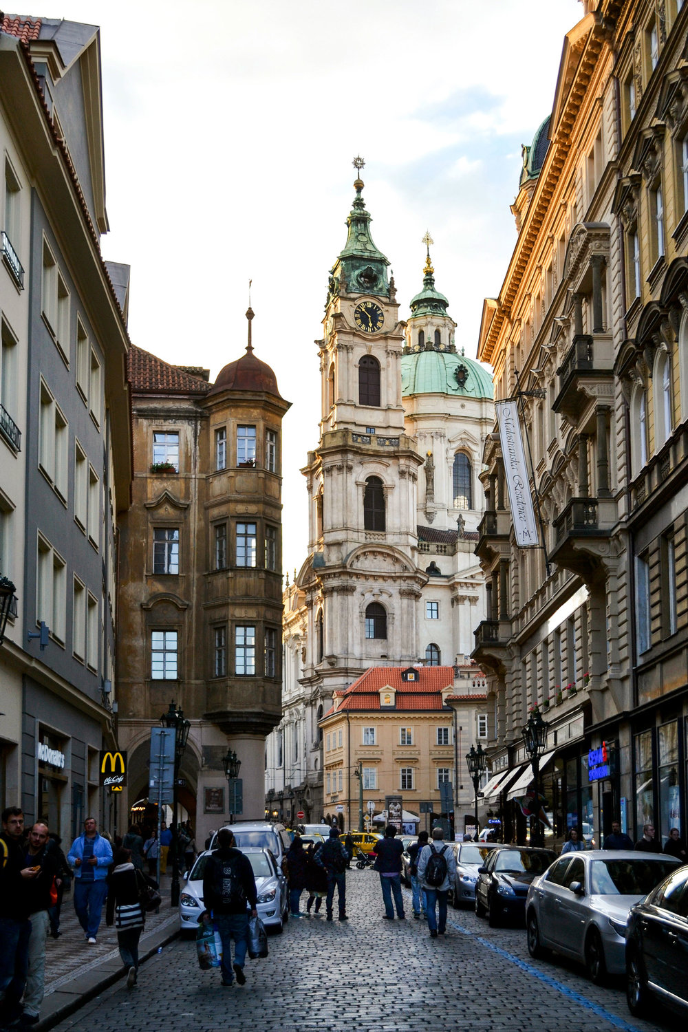Walking through the streets of Prague