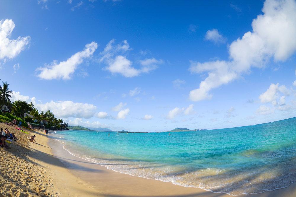 Lanikai beach, facing Kaneohe