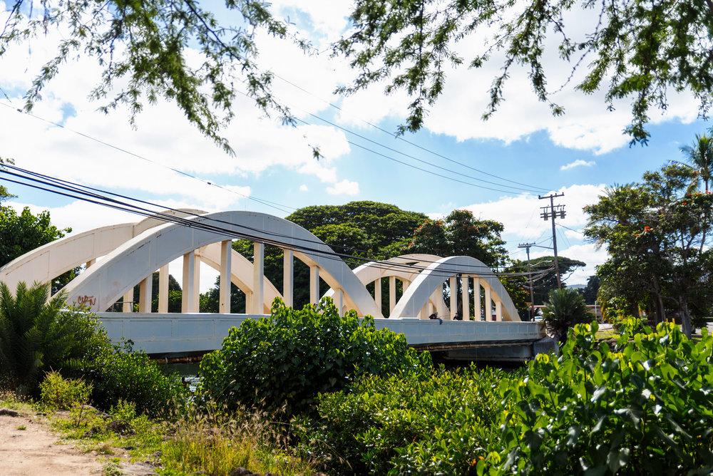 The Rainbow Bridge of Haleiwa Town