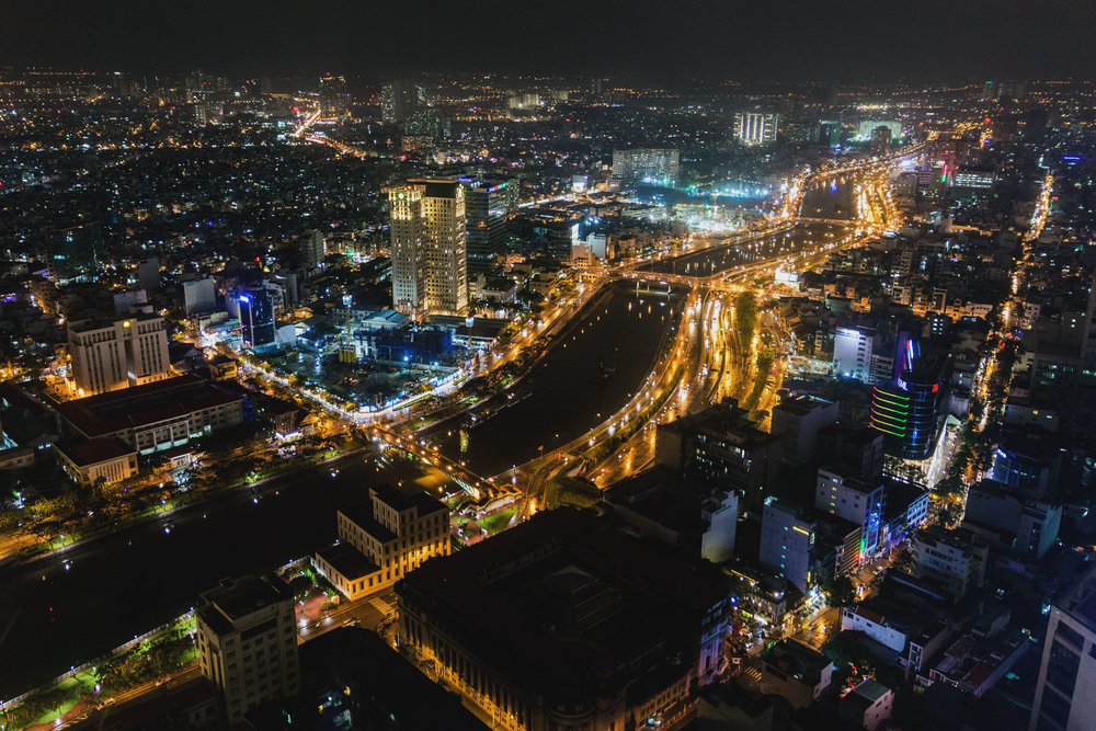Ho Chi Minh view from the Saigon Skydeck