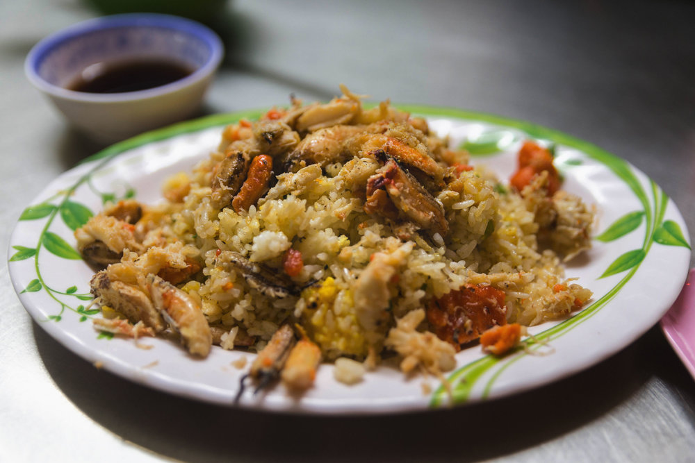 Crab fried rice at Quán Thuý 94 Cũ in Ho Chi Min, Vietnam