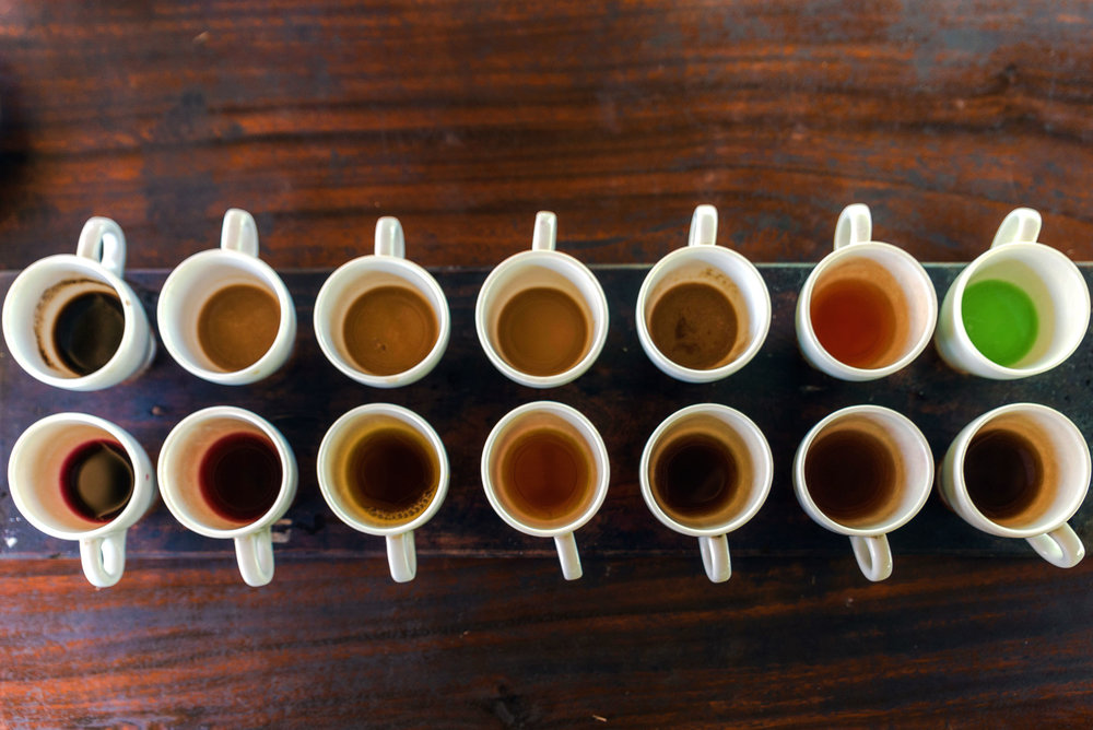 Coffee and tea tasting at Uma Pakel in Ubud, Bali
