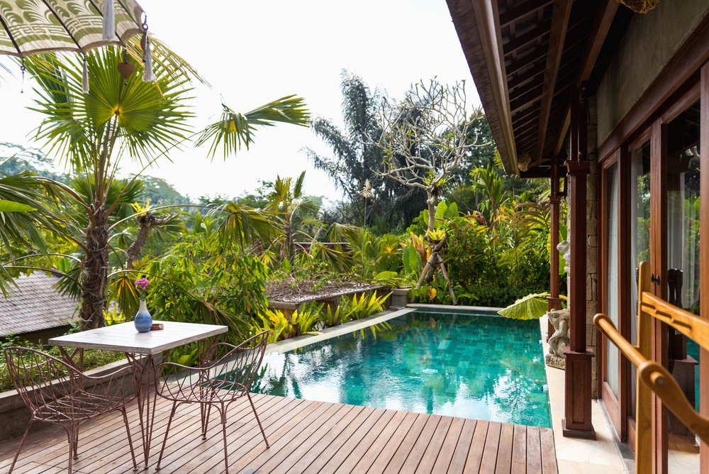 Private pool at Nau Villas, Ubud in Bali